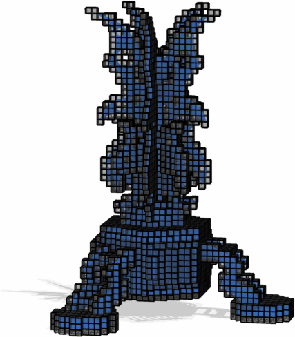big alien model voxelized