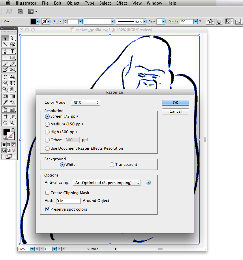 illustrator line drawing to paths