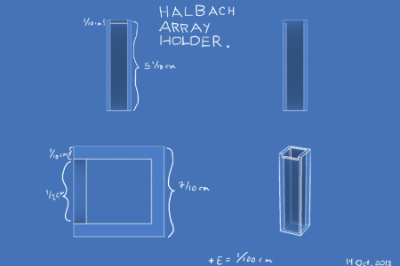 halbach array holder blueprint