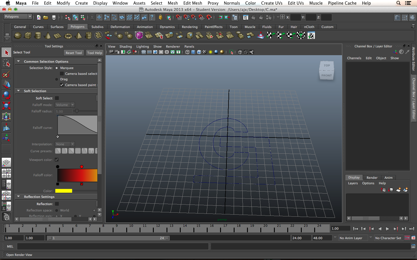 maya bezier curve to polygon mesh