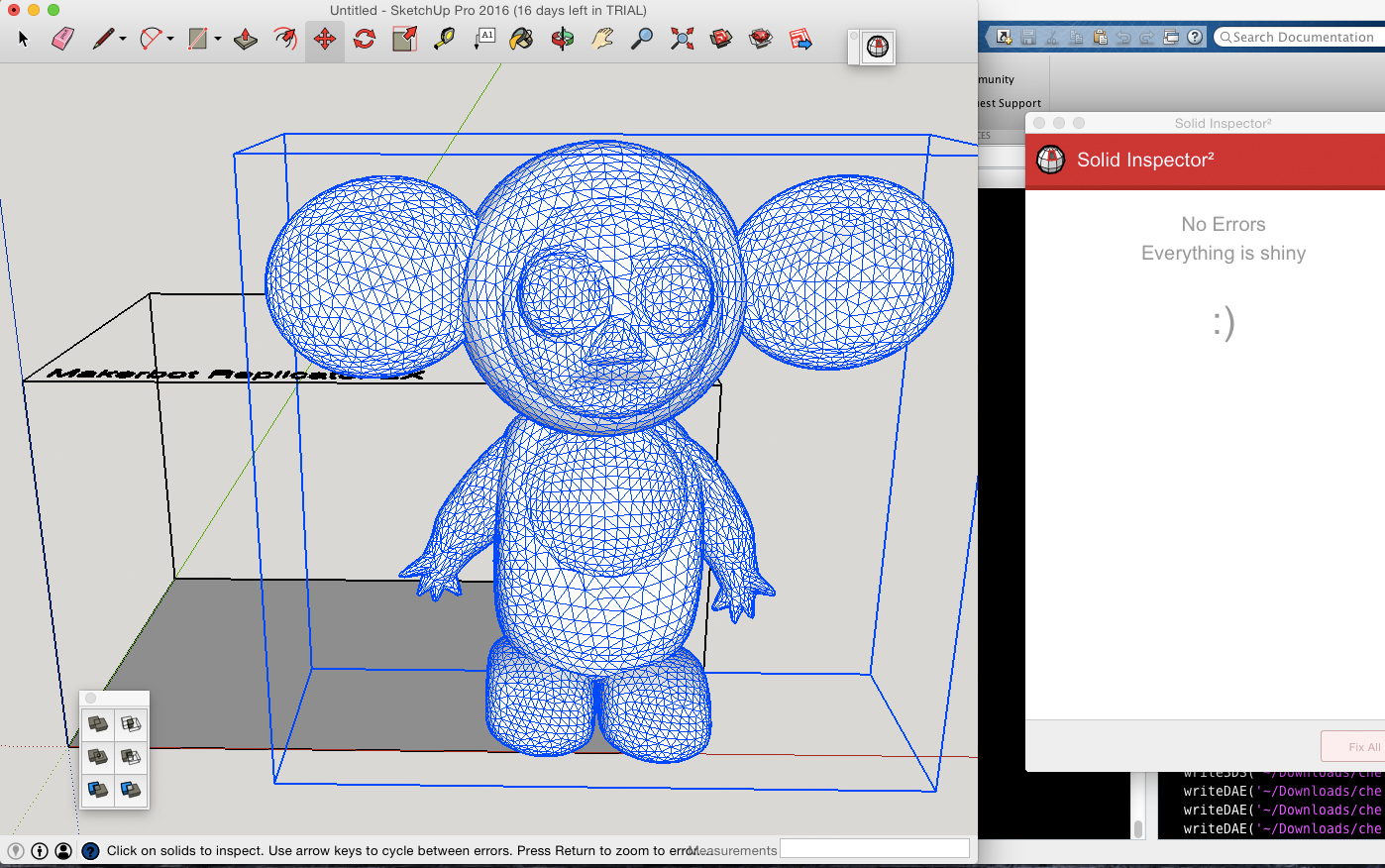 larger cheburashka imported into sketchup with no missing faces